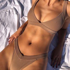 Frankies Georgia Bikini Top (S) & Bottom (M)